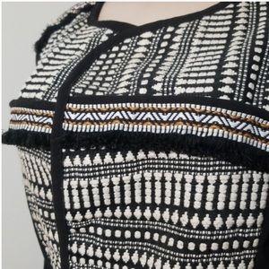 H&M Jackets & Coats - H & M Tribal Black White Woven Belted Vest 8 M